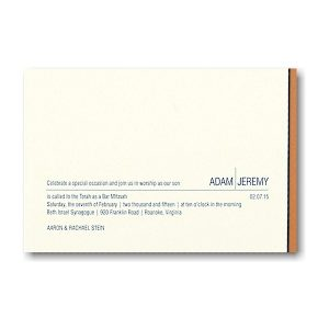 Frontier Bar Mitzvah Invitation