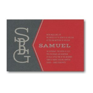Fulcrum Bar Mitzvah Invitation