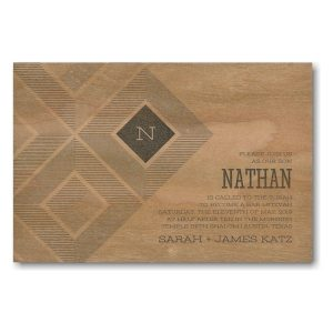 Parquetry Bar Mitzvah Invitation