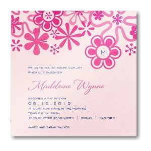 Pop Bat Mitzvah Invitation