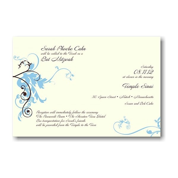 Sarah Bat Mitzvah Invitation