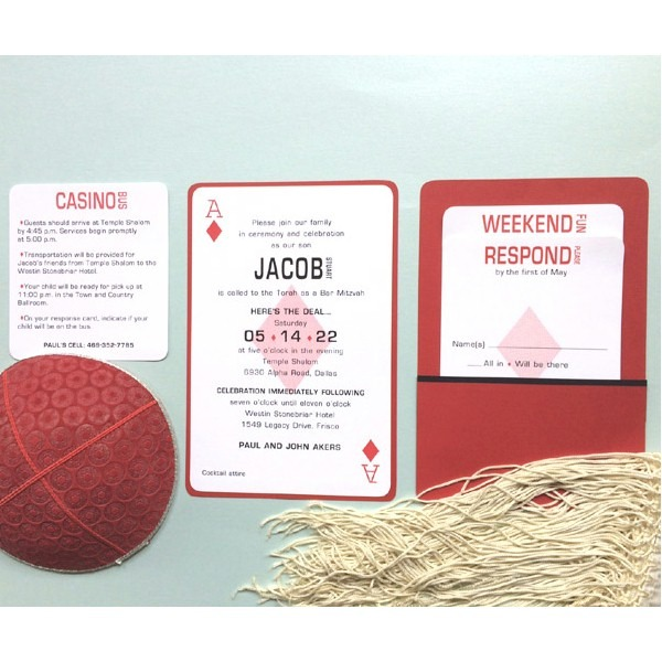 Here is the Deal Bar Mitzvah Invitation