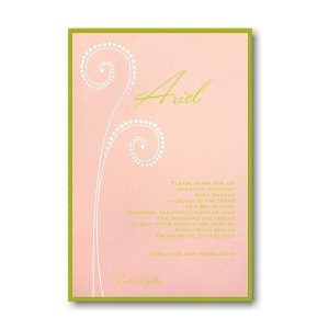 Ariel Bat Mitzvah Invitation