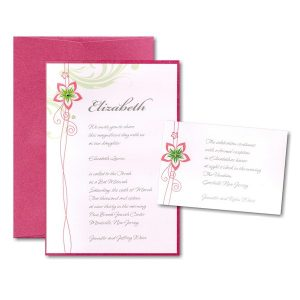 Blossom Bat Mitzvah Invitation