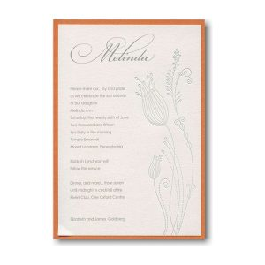Blossoming Beauty Bat Mitzvah Invitation