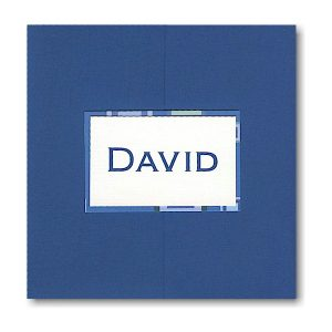 Burst of Blue Pocket Bar Mitzvah Invitation