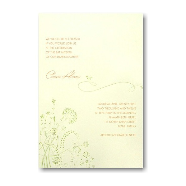 Chava Bat Mitzvah Invitation