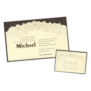 City of Zion Bar Mitzvah Invitation