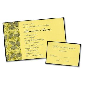 Divine Vines Bat Mitzvah Invitation