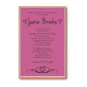 Flirty Fuchsia Bat Mitzvah Invitation