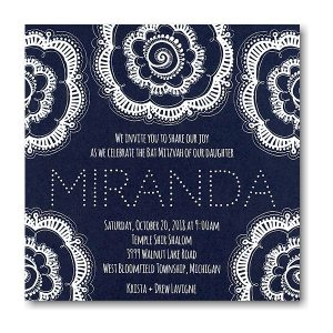 Flower Power II Bat Mitzvah Invitation