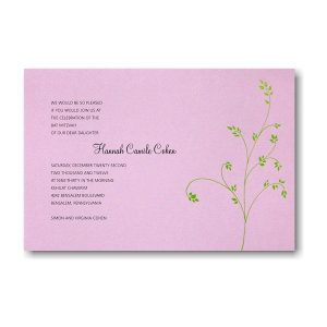 Hannah Bat Mitzvah Invitation