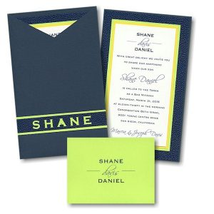 Inspire Jacket Bar Mitzvah Invitation
