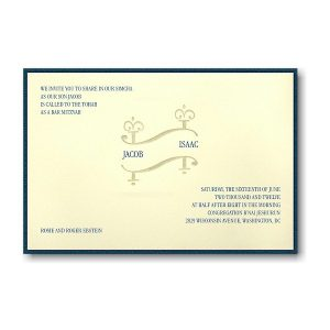 Jacob Bar Mitzvah Invitation
