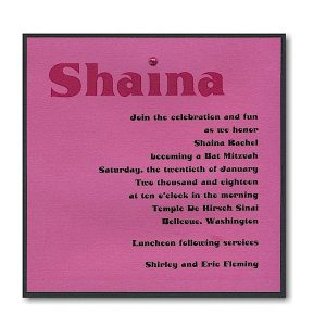 Magenta Magic Bar Mitzvah Invitation