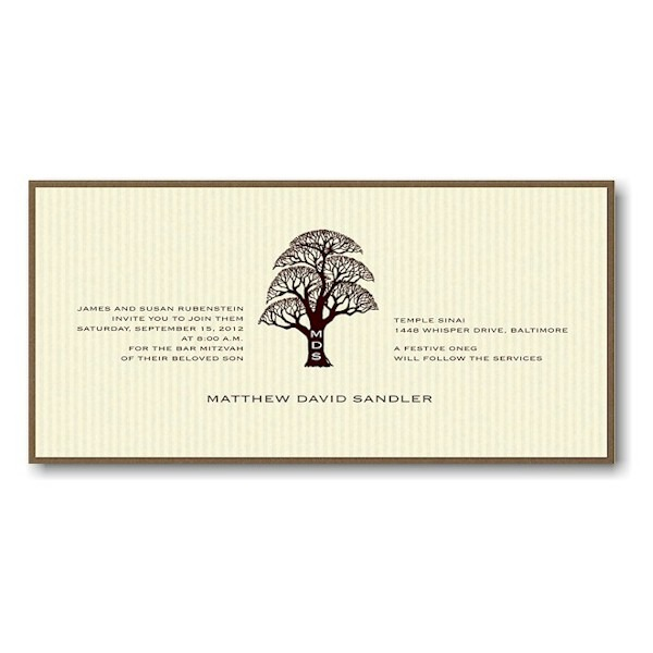 Matthew Bar Mitzvah Invitation Sample