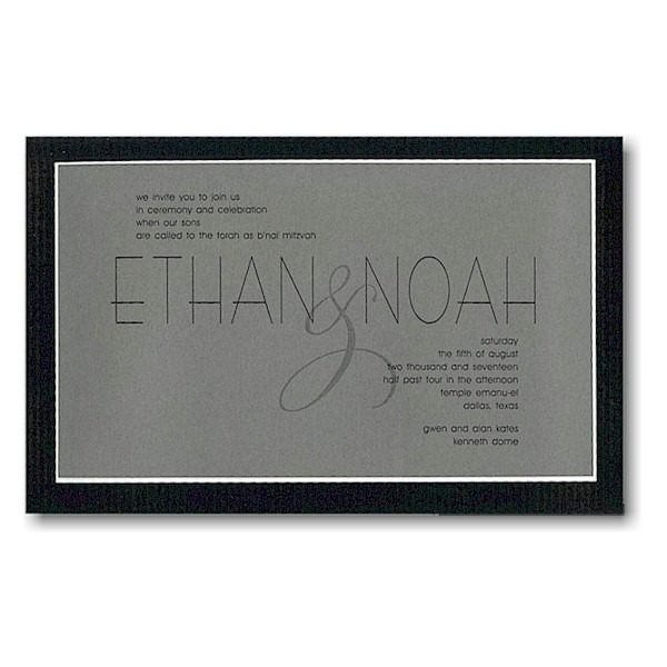 Milestone Bar Mitzvah Invitation Sample