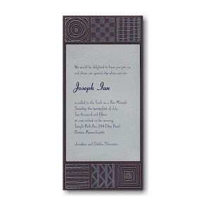 Modern Artistry Bar Mitzvah Invitation