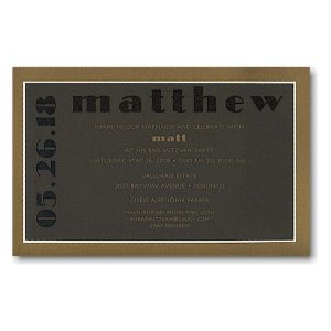 Modern Sophistication Bar Mitzvah Invitation Sample
