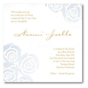 Naomi Bat Mitzvah Invitation