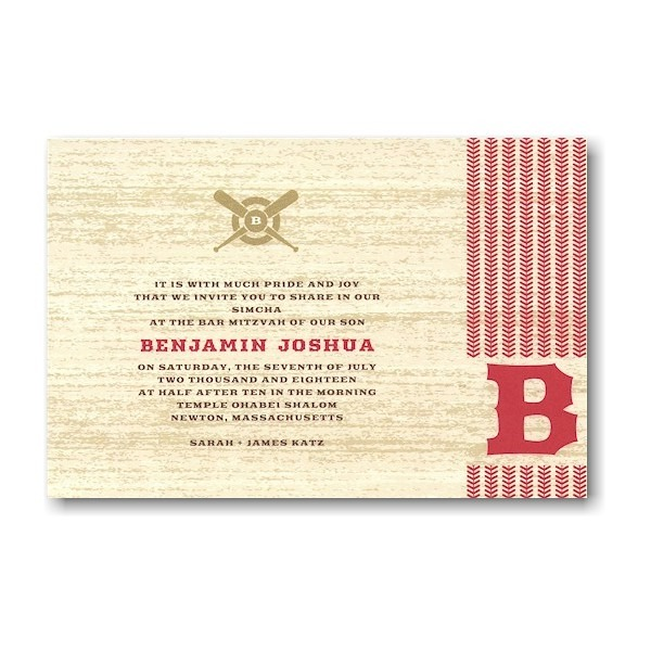 On Deck Bar Mitzvah Invitation