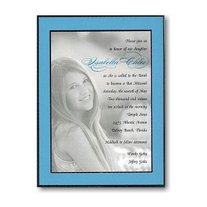 Portrait Glamour Bat Mitzvah Invitation