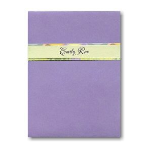 Pretty Pastels Pocket Bat Mitzvah Invitation