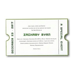 Special Event Ticket Bar Mitzvah Invitation
