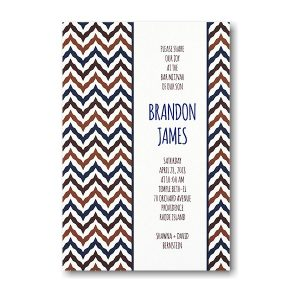 Statement Bar Mitzvah Invitation