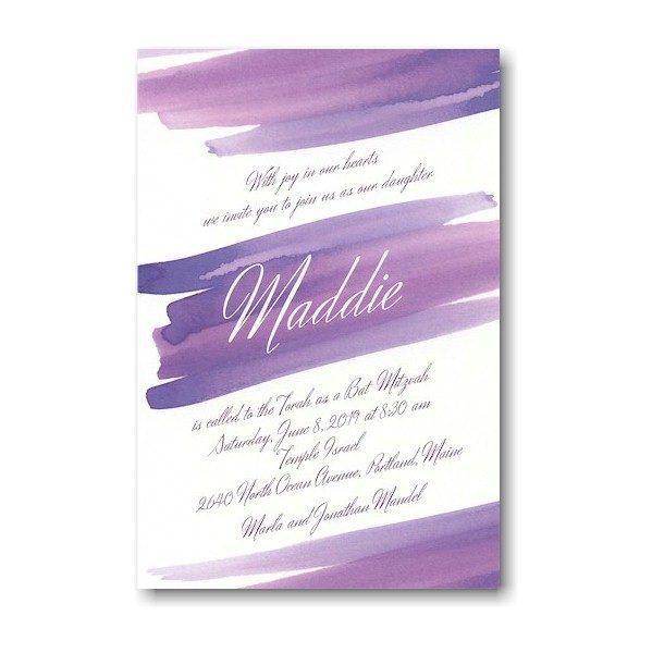 Sunset Wash Bat Mitzvah Invitation