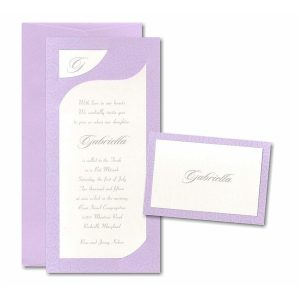 Sweet Swirls Bat Mitzvah Invitation
