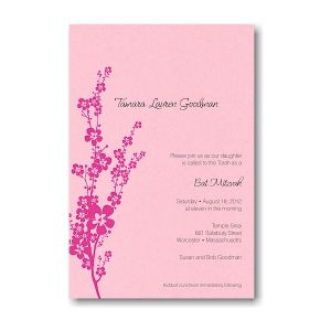 Tamara Bat Mitzvah Invitation