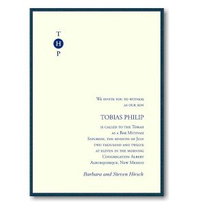 Tobias Bar Mitzvah Invitation