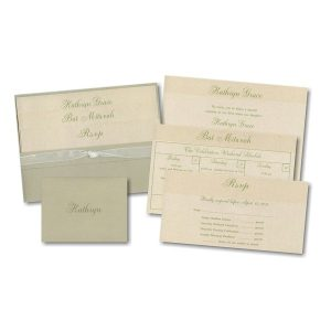 Tranquility Pocket Bat Mitzvah Invitation