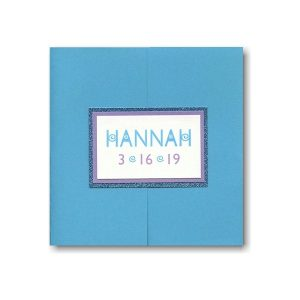 Ultra Marine Pocket Bat Mitzvah Invitation