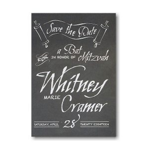 Chalkboard Save the Date Card Sample