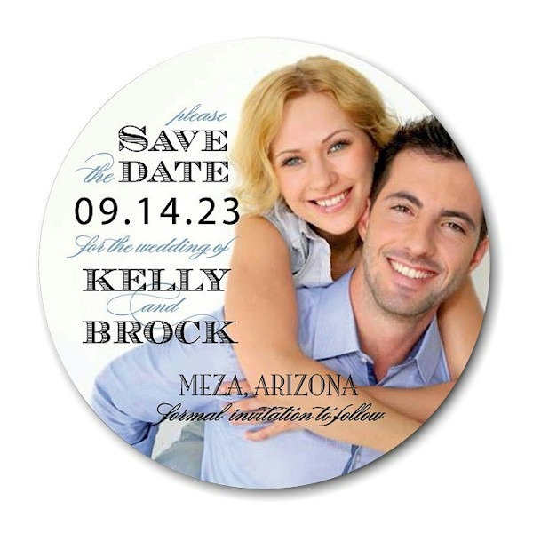 Circle Flair Save the Date Card