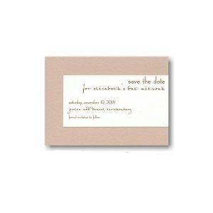 Contemporary Style II Save the Date Card