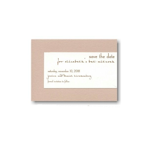 Contemporary Style II Save the Date Card Sample