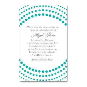 Dots Galore Bat Mitzvah Invitation