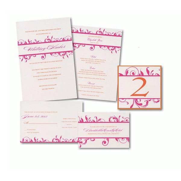 Create Your Own Bat Mitzvah Invitation Suite 53