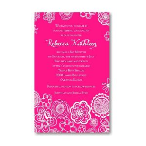 Create Your Own Bat Mitzvah Invitation Suite 70B icon
