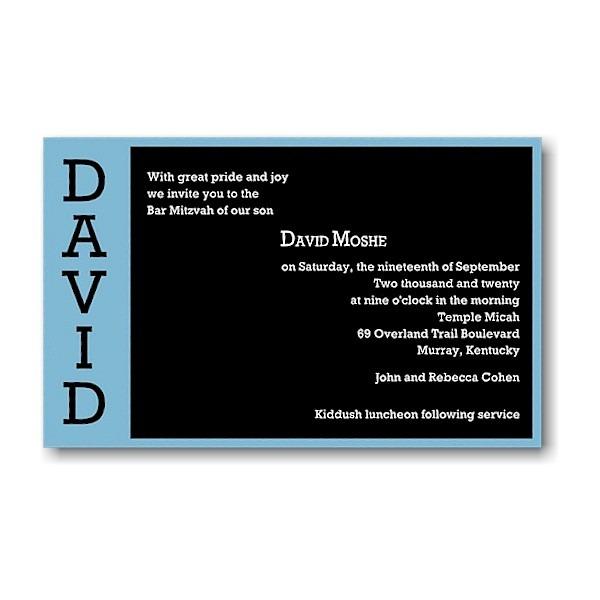 David Moshe in Blue Bar Mitzvah Invitation icon