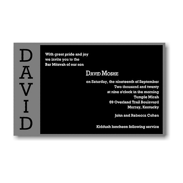 David Moshe in Silver Bar Mitzvah Invitation icon