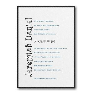 Discovery Layered Bat Mitzvah Invitation icon