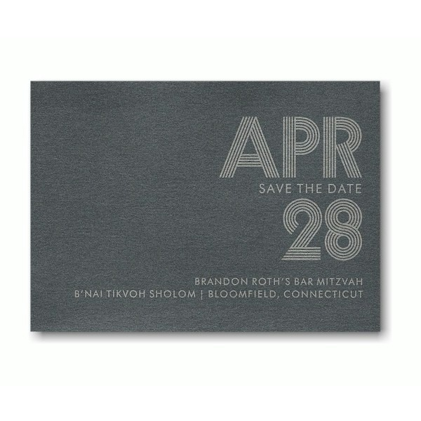 Electron Save the Date Card Sample