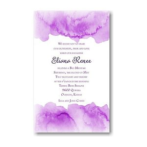 Eliana in Purple Bat Mitzvah Invitation icon