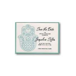 Hand of Miriam Layered Save the Date Card