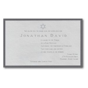 Jonathan David Bar Mitzvah Invitation