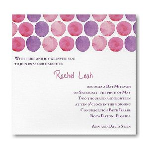Jubilant in Pinks Bat Mitzvah Invitation icon